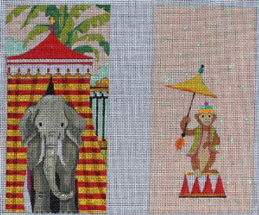 click here to view larger image of Circus Elephant (hand painted canvases)