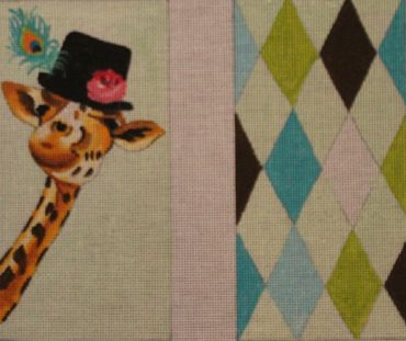 Giraffe with Black Hat hand painted canvases