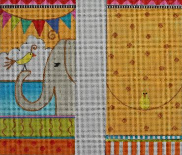 click here to view larger image of Bird and Elephant (hand painted canvases)