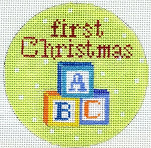 click here to view larger image of First Christmas Blocks (hand painted canvases)