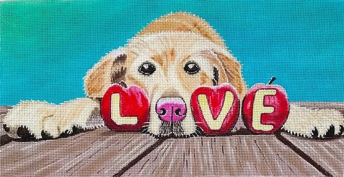 click here to view larger image of Love Is Furr-Ever (hand painted canvases)