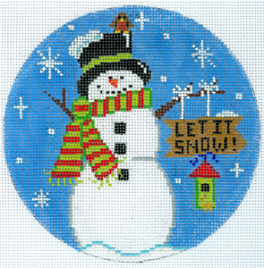 click here to view larger image of Let it Snow! (hand painted canvases)
