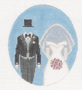 click here to view larger image of Bride and Groom (hand painted canvases)