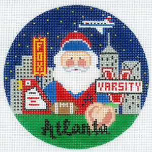 click here to view larger image of Atlanta Santa (hand painted canvases)