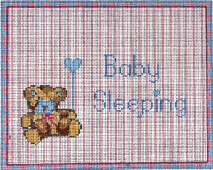 click here to view larger image of Baby Sleeping Bear for Boys (hand painted canvases)