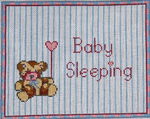 click here to view larger image of Baby Sleeping Bear For Girls (hand painted canvases)