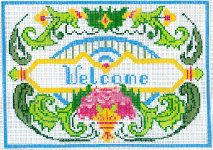 "click here to view larger image of Florentine - ""Welcome"" (hand painted canvases)"