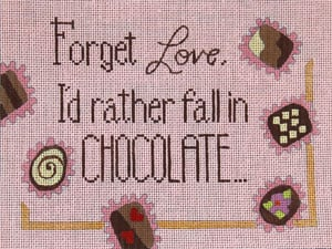 click here to view larger image of Forget Love…. (hand painted canvases)