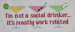 click here to view larger image of I'm not a social drinker... (hand painted canvases)