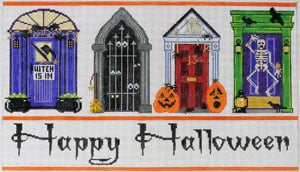 click here to view larger image of Halloween Doors (hand painted canvases)