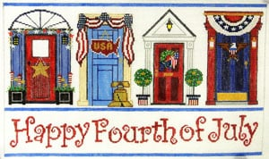 click here to view larger image of Fourth of July Doors (hand painted canvases)