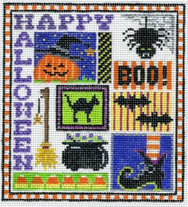 click here to view larger image of Halloween Sampler (hand painted canvases)