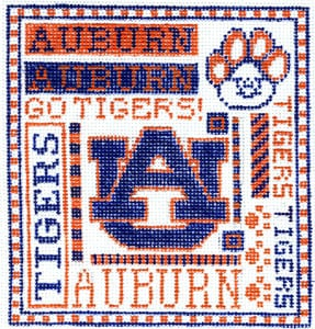 click here to view larger image of Auburn (hand painted canvases)