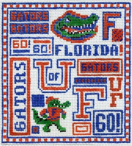 click here to view larger image of Florida Gators (hand painted canvases)