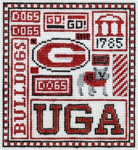click here to view larger image of UGA (hand painted canvases)