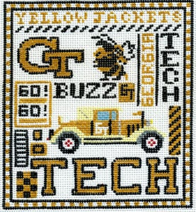 click here to view larger image of Georgia Tech (hand painted canvases)