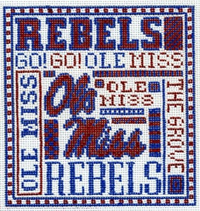 click here to view larger image of Ole Miss (hand painted canvases)