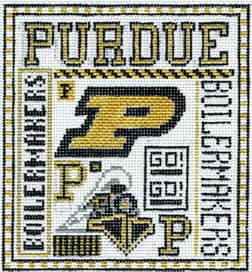 click here to view larger image of Purdue (hand painted canvases)