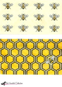 click here to view larger image of Bee and Honey Comb (hand painted canvases)