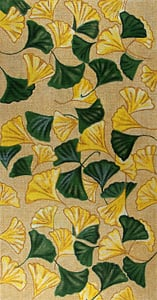 click here to view larger image of Ginkgo Leaves Collage (hand painted canvases)