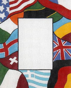click here to view larger image of Waving International Flags (hand painted canvases)