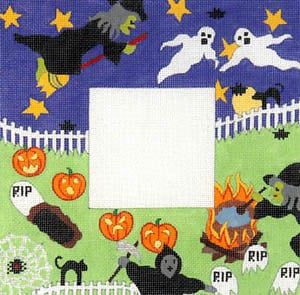 click here to view larger image of J. Halloween (hand painted canvases)
