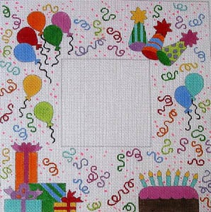click here to view larger image of It's your Birthday (hand painted canvases)
