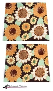 click here to view larger image of Antique Sunflowers (hand painted canvases)