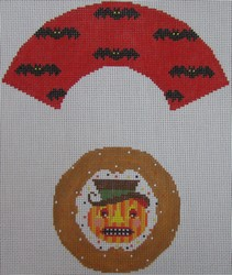 click here to view larger image of Devil Pumpkin Cupcake (hand painted canvases)
