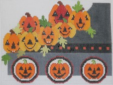 click here to view larger image of Halloween Train - Coal Car (hand painted canvases)