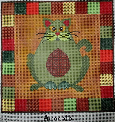 click here to view larger image of Avacato - 13 Count (hand painted canvases)