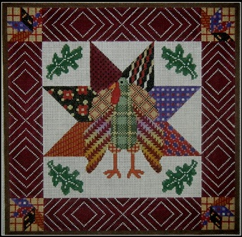 click here to view larger image of Gobbler Quilt (hand painted canvases)