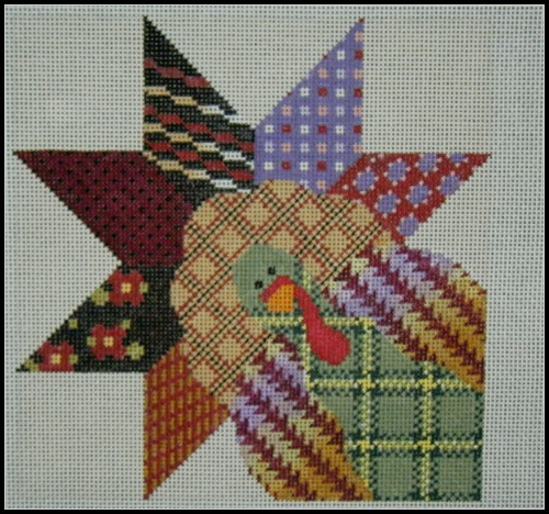 click here to view larger image of Little Gobbler Quilt Block (hand painted canvases)