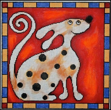 click here to view larger image of Spotted Dog (hand painted canvases)