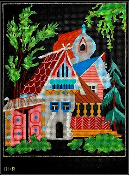click here to view larger image of Paleckh - Russian Village (hand painted canvases)