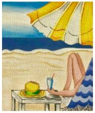 click here to view larger image of Beach Umbrella (hand painted canvases)