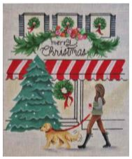 click here to view larger image of Christmas Shopping (hand painted canvases)