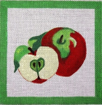 click here to view larger image of Apple and Slice (hand painted canvases)