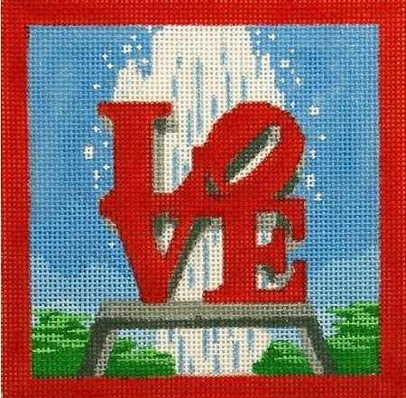 click here to view larger image of Love Park (hand painted canvases)