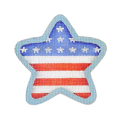 click here to view larger image of Americana - Star Flag (hand painted canvases)