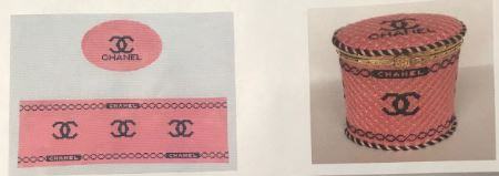 click here to view larger image of Chanel Box (Pink) (hand painted canvases)