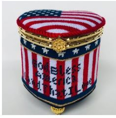 click here to view larger image of God Bless USA Box (hand painted canvases)