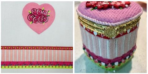 click here to view larger image of Valentine Box (hand painted canvases)