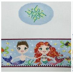 click here to view larger image of Mermaid/Merboy Box (hand painted canvases)