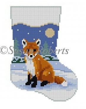 Baby Fox mini sock hand painted canvases