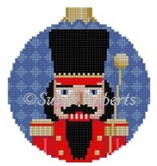 click here to view larger image of Band Major Nutcracker Ornament (hand painted canvases)