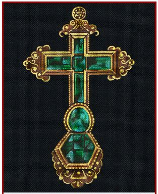 click here to view larger image of Atocha Cross (hand painted canvases)