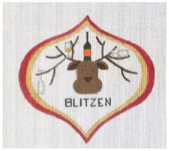 click here to view larger image of Blitzen (hand painted canvases)