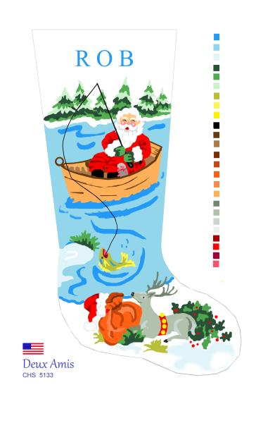 click here to view larger image of Fishing Santa - 13M (None Selected)