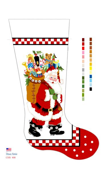 click here to view larger image of Checkerboard Board Santa - 18M (Canvas)